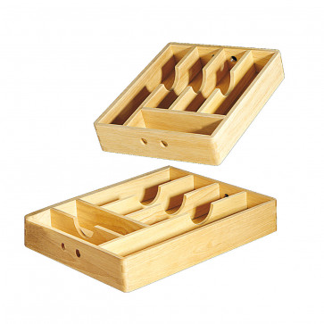 Eating implements holder in wood