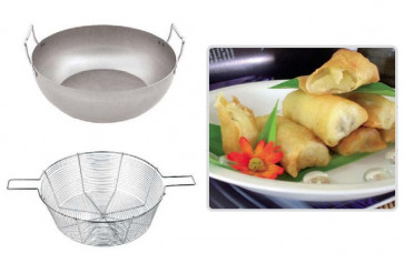Frying-pan with basket
