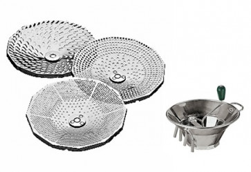 Three discs for sieve in stainless steel
