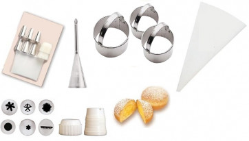 Doughnut Set: Paste-cutter, filling spouts