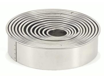 Tagliapasta Coppapasta 14 pezzi forma anello liscio