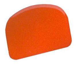 Half-circle scraper spatula in polypropylene for confectionery