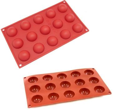 Silicone moulds multi-portion 15 half-spheres D. 4 cm.