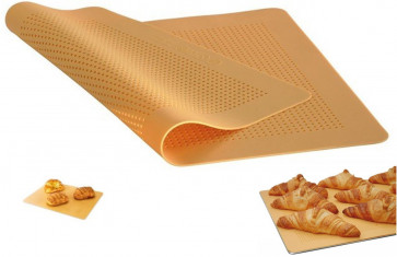 Silicone sheet with holes for oven cooking