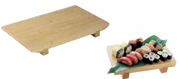 Bamboo trencher for sushi