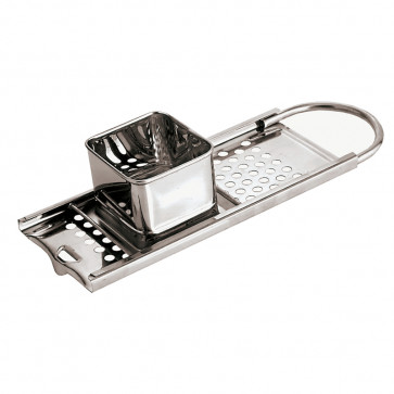 Grater for spaetzle in stainless steel