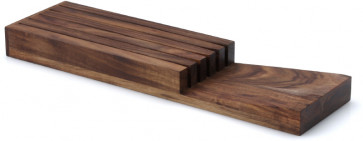 Drawer block for knives five places in acacia