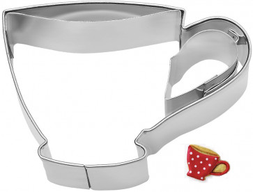 Paste-cutter cup shaped in stainless steel