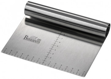 Rasper spatula handleless in stainless steel with graduated scale