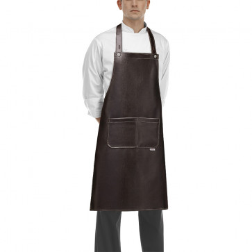 Ecoleather apron with pocket and buttons