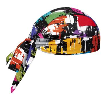 Graphich shaped bandana in cotton. Fantasy color