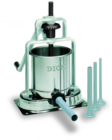 Dick table Sausage making machine stainless steel 6,8 litres