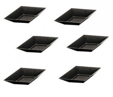 Set for 6 mini tartlets non-stick rhombus shaped