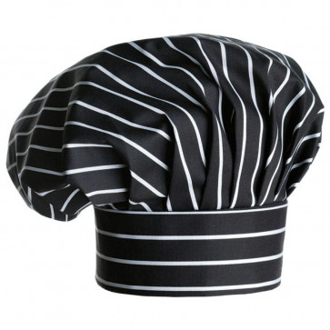 Cappello cuoco Nero Righe Bianche