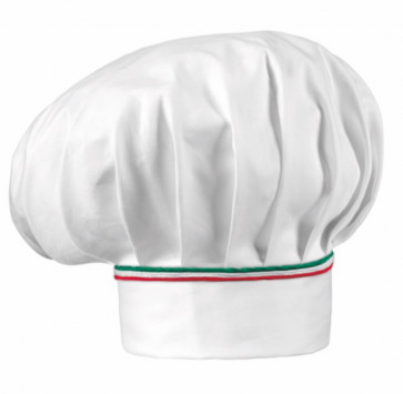 HAT Chef ITALY: White with red and green finishes