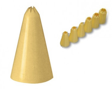 Set of 6 assorted spouts star hole in PP