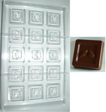 Stampo in policarbonato cioccolatino Quadretto