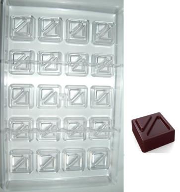 Stampo in policarbonato cioccolatino Quadrato Freccia