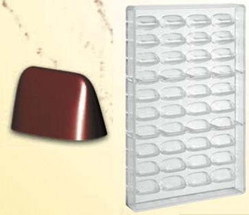 Polycarbonate mould for Gianduiotto chocolates