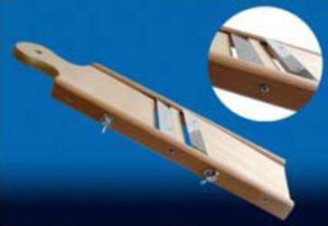 Affettatutto Mandolina in legno due lame regolabile