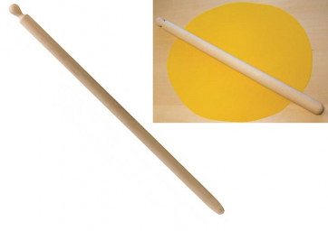 Rolling pin for egg dough in beech wood cm. 90 x 4