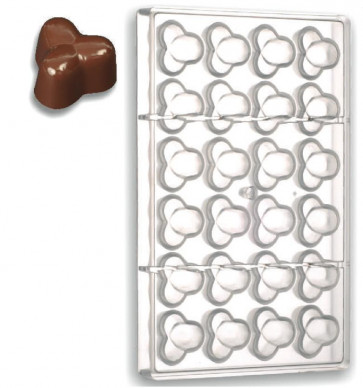 Stampo in policarbonato cioccolatini Tre Nocciole