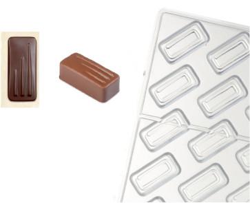 Stampo in policarbonato per cioccolato Rettangolo