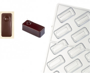 Artisanal Pralines mould for chocolate   Rectangular Point