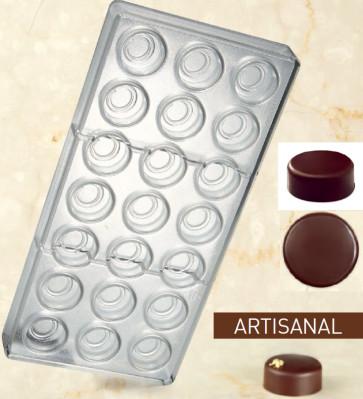 Stampo in policarbonato per cioccolato Linea Artisanal Tondo Liscio