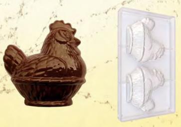 Stampo in policarbonato per cioccolato Gallina