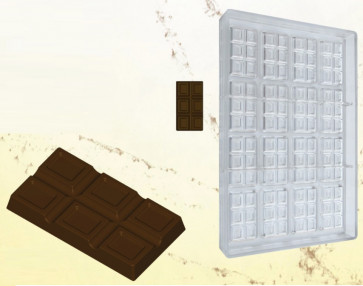 Polycarbonate mould for chocolate : MINI TABLET