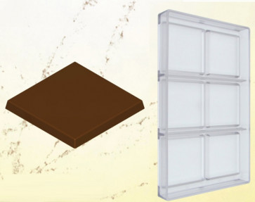 Polycarbonate mould for chocolate : SMOOTH TABLET 40 grams