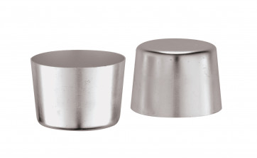6 Aluminium moulds for crème caramel Diameter cm. 7 Height cm. 5