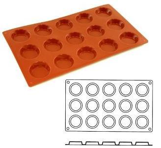 Stampo in silicone alimentare 15 tartellette