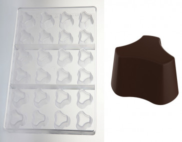 Polycarbonate mould for Rock chocolates