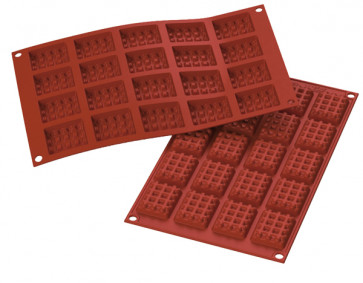 Mould in food silicone Square Waffle