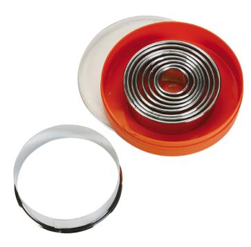Set 9 tagliapasta tondo anello in acciaio