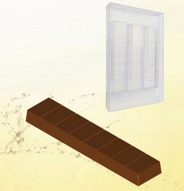Mould for chocolate polycarbonate: Nougat  or Tablet gr. 100