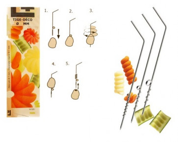 Tige-Deco : trio for  vegetable spiral decoration