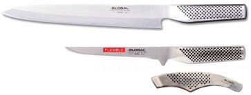 Set Sushi Go: Global Filleting knife, fish-boning pliers, Sashimi knife