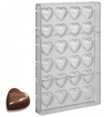 Mould for chocolate polycarbonate: Big Heart praline