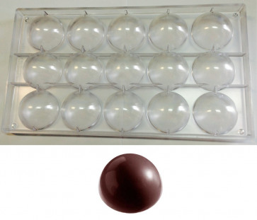 Polycarbonate mould for chocolate large semi-sphere – Christmas balls