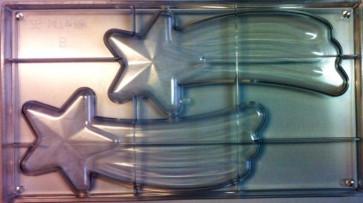 Stampo in policarbonato per cioccolato 2 Stelle Comete