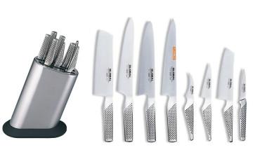 Ceppo completo di 8 coltelli Global