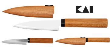 Kitchen knife and fruit with wood sheath - Kai