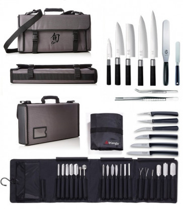 PRESTIGE Case: Kai Japanese knives, Triangle carving knives and accesssories