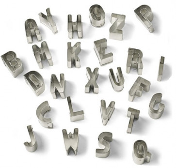 Paste-cutters tin-plated ALPHABET