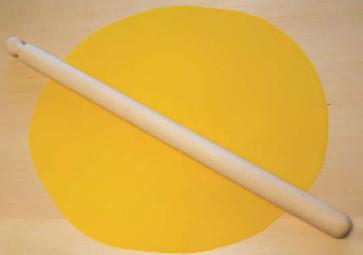 Mattarello in faggio lunghezza cm. 70, diametro mm. 40