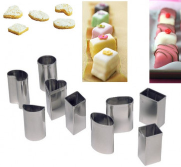 Set of 9 cutters in stainless steel Petit Four