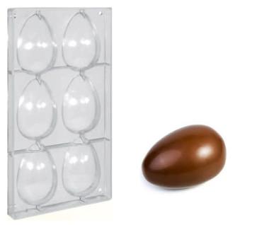 Stampo in policarbonato 6 Piccole Uova di Cioccolato 70 grammi - UOVA DI OCA